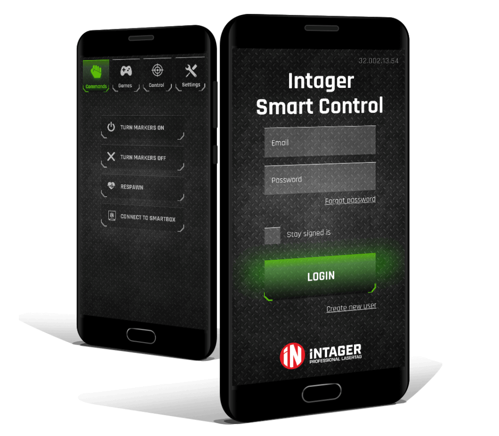 Main Page Intager Smart Control App Professional Laser Tag System