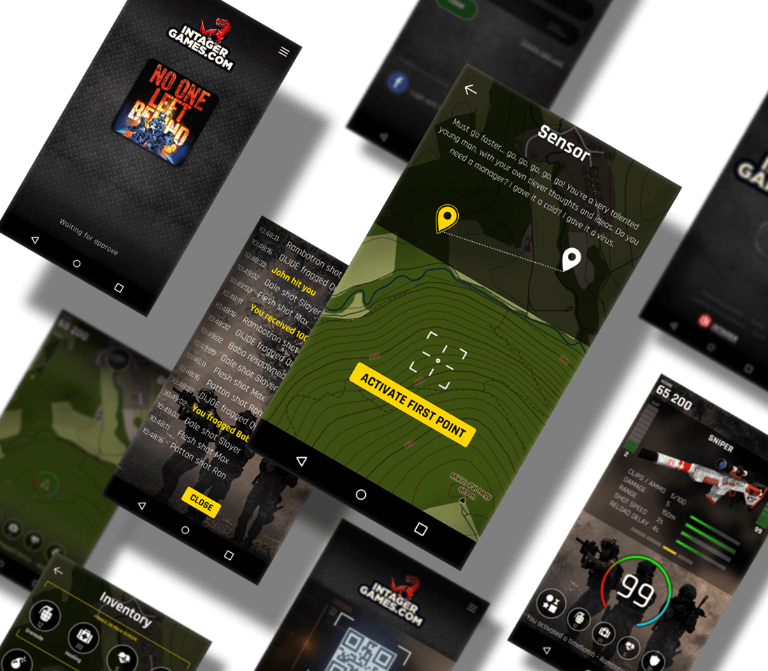 Main Page Intager Laser Tag Services