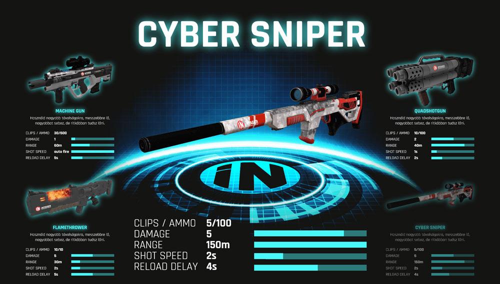 Lasergamewapen kiezen in app