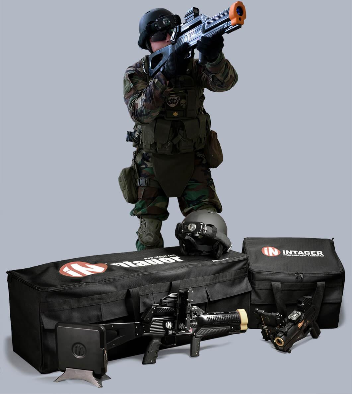 Laser harc táskák