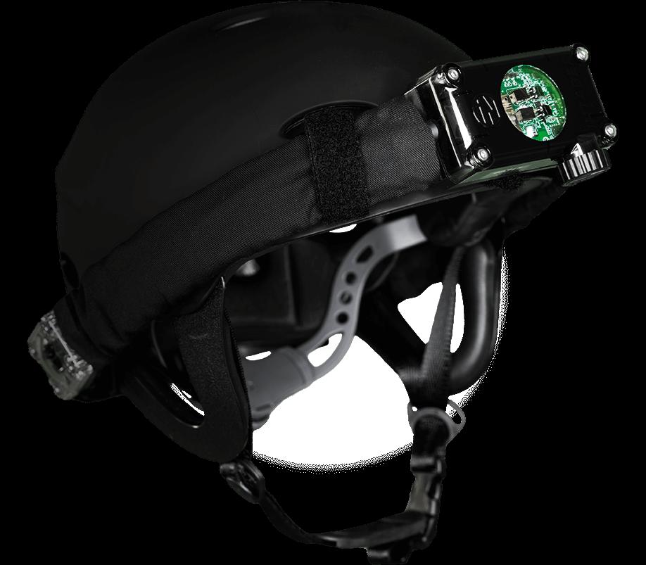 Intager hoofdbandsensor op helm