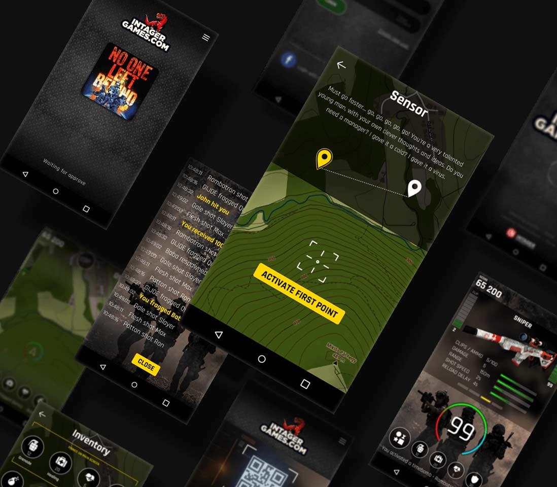 Screenshot Intager app