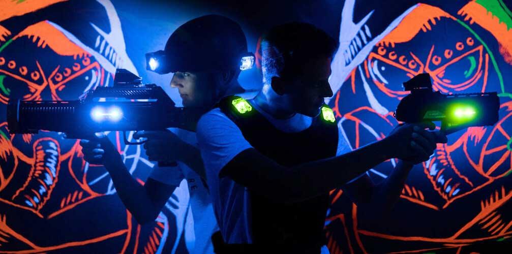 Indoor lasergamen met vest