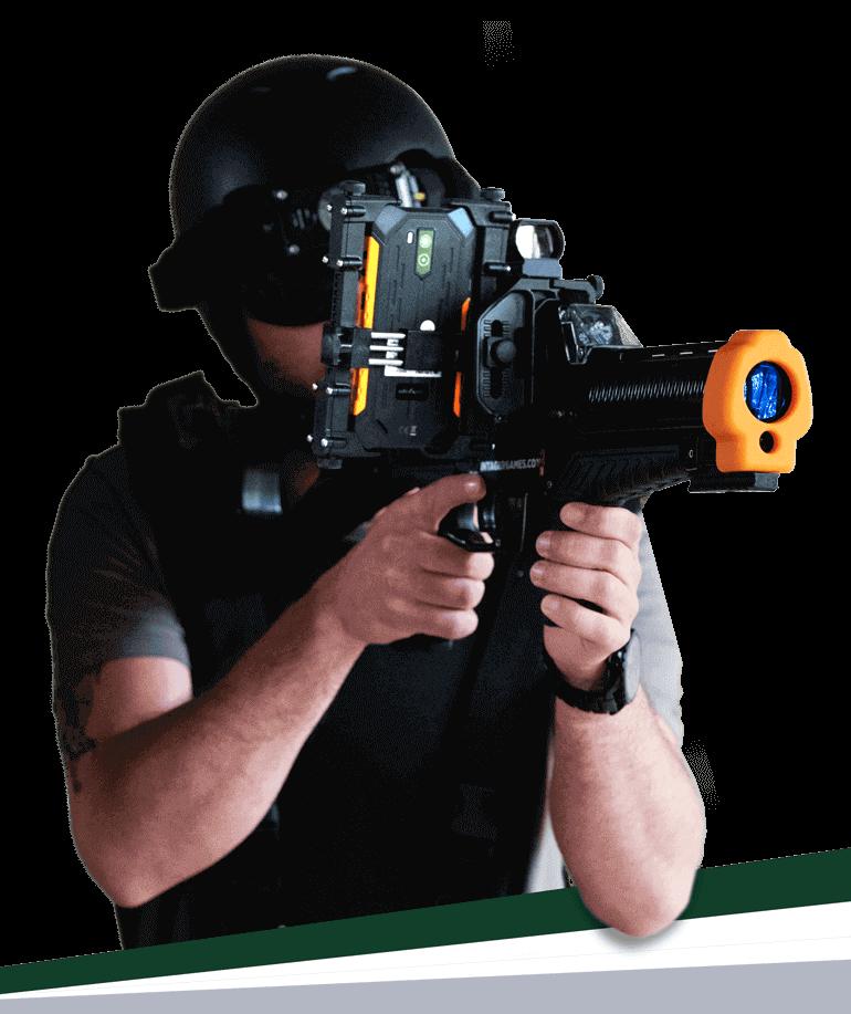 Pro met Raptor3 lasergameset en telefoon