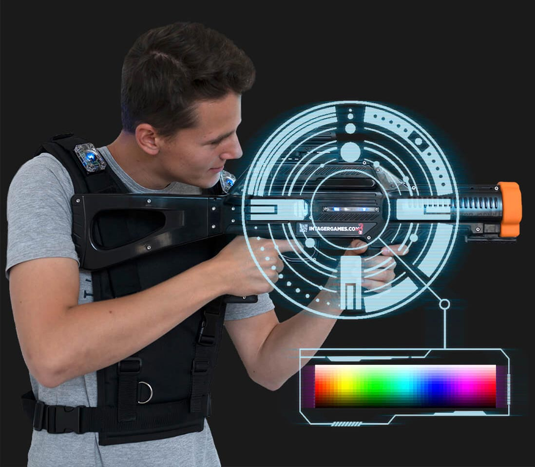 Intager Raptor3 Lasergame gekleurde leds