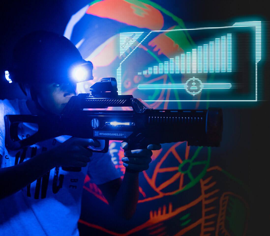 Intager Raptor3 Lasergame instelbare afstanden